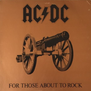 AC/DC - For Those About To Rock (We Salute You) (LP) (EX/G)